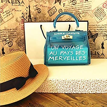 e6e6fc58887 OneMoreT Sac à main à bandoulière pour femme Transparent Alphabet S bleu   Amazon.fr  Instruments de musique