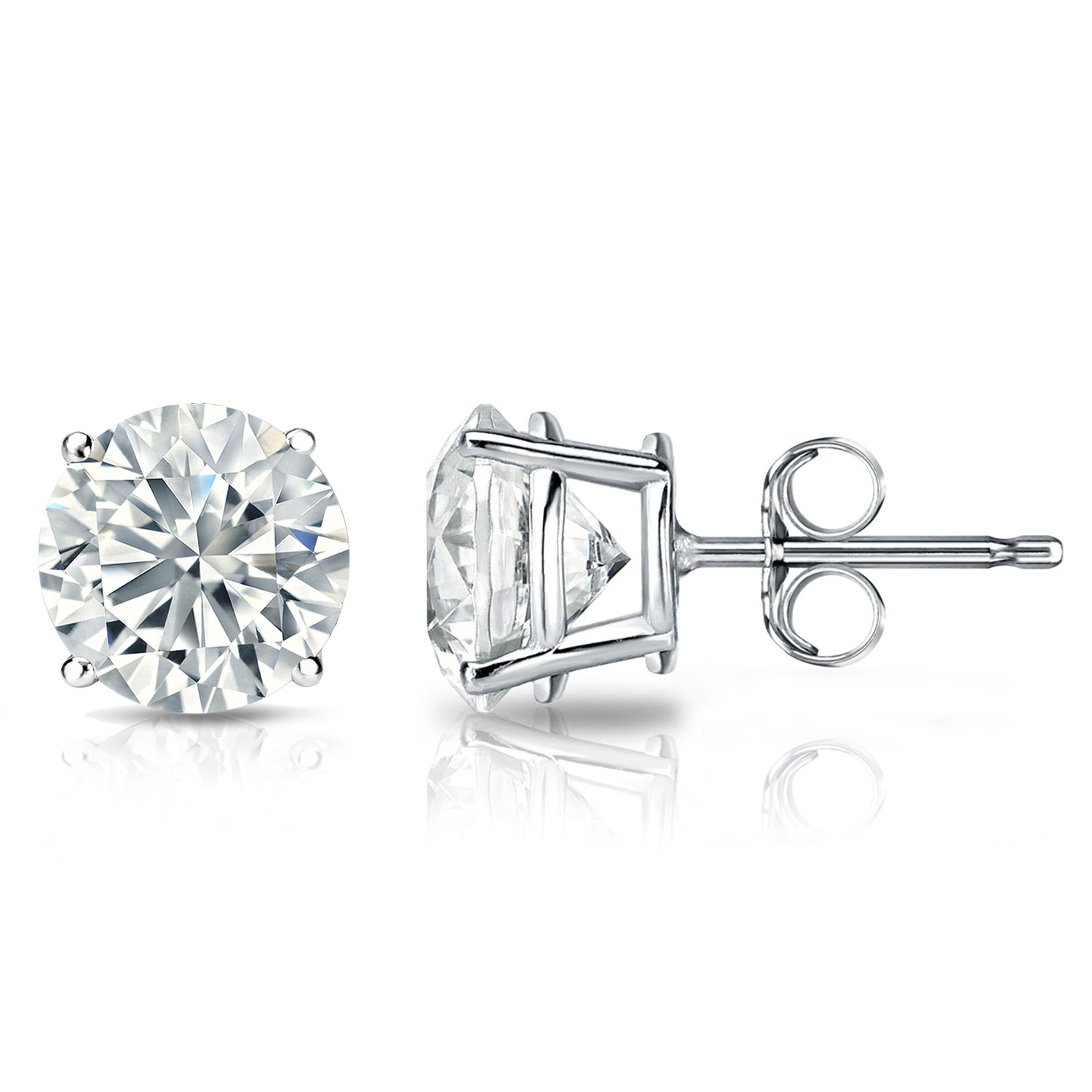 Amazon GIA Certified Platinum Round Diamond Stud Earrings 4