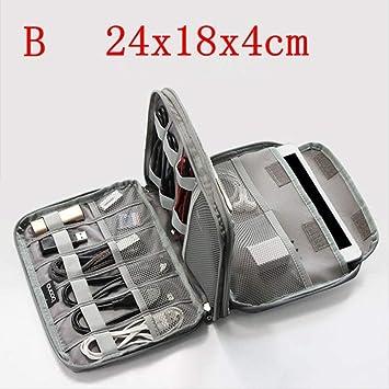 IANSISI Organizador Cables Viaje Accesorios Electrónicos Cable USB Organizador Bolsa De Almacenamiento Estuche Unidad Viaje Soporte B: Amazon.es: Electrónica