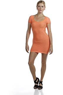6371b012dd12 Emmalise Women's Sexy Seamless Fitted Short Mini Dress with Open Back