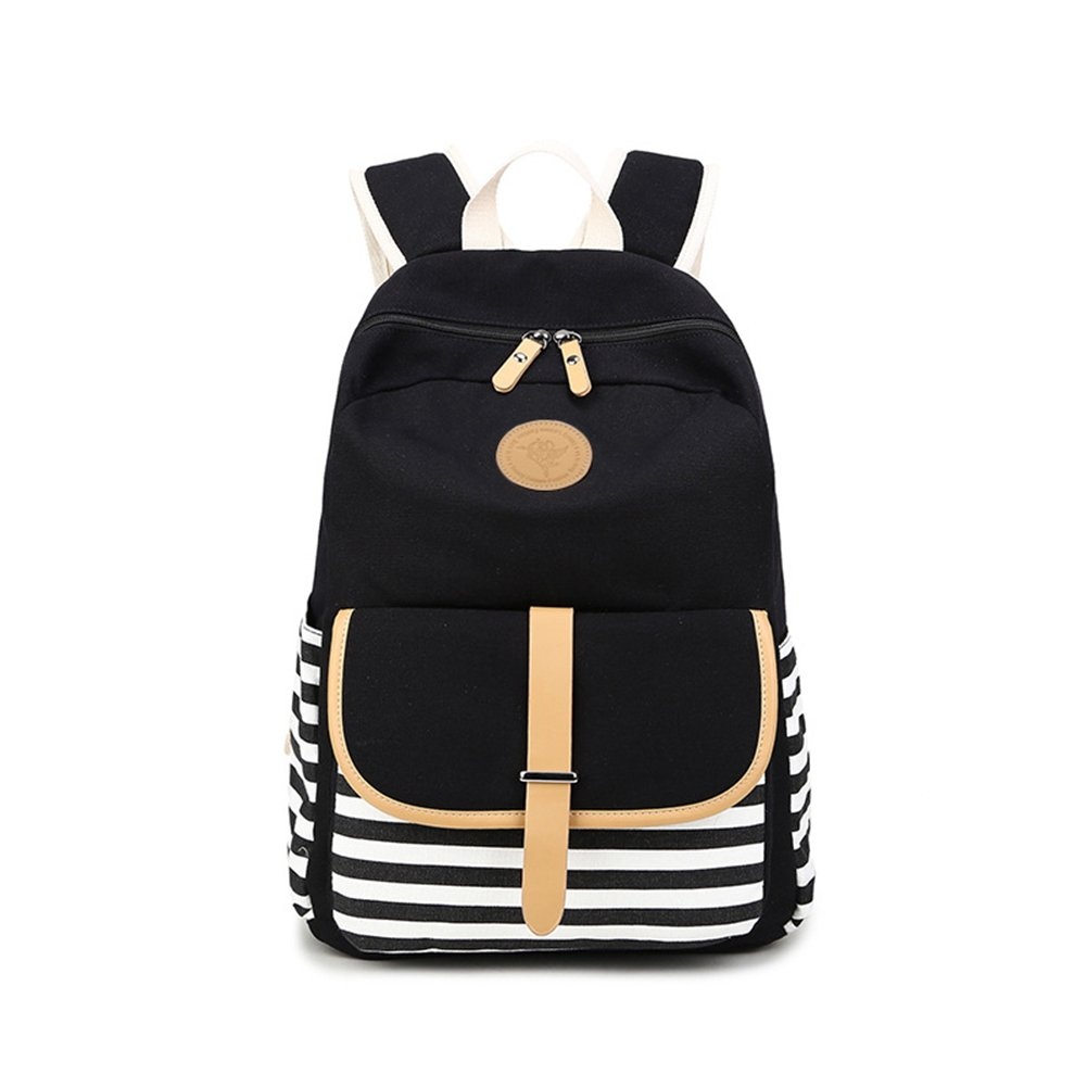 263838848d72 Tougos canvas college middle school backpacks for teen girls bookbags black  toys games jpg 1001x1001 Middle