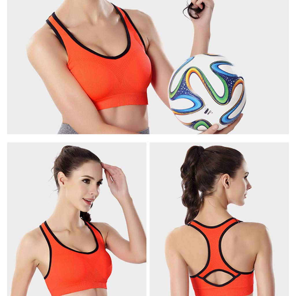 YOcheerful Women Racerback Sports Bras High Impact Workout Gym Bras Activewear Bra Yoga Bra Full Cup Lingeries
