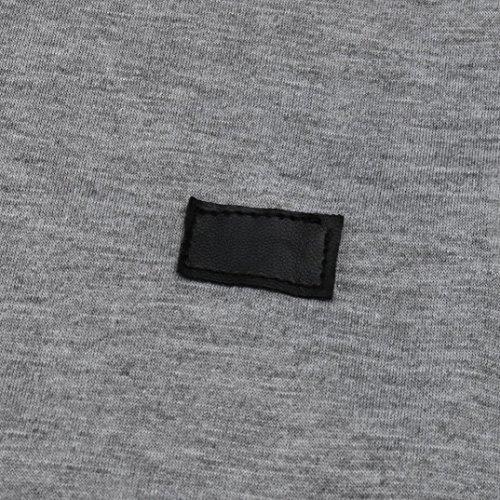 JiaMeng Camiseta Deportiva Transpirable tecnología de Manga Larga para Hombre - Blusa básica del Color Puro del botón del músculo Camiseta ...