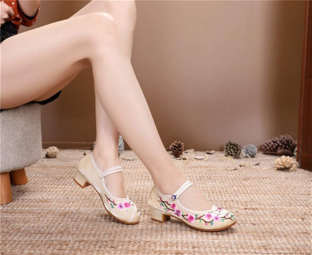 Bout Rond Broderie Chaussures//Flats Lace Party Chaussures femme Chaussures pour femmes chaussures de printemps et d/ét/é pour femmes chaussures en tissu chaussures pour femmes brod/ées