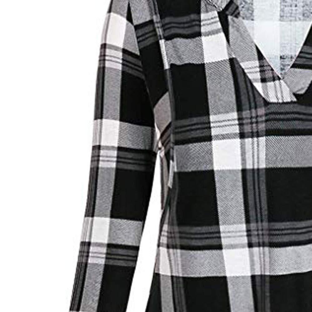 V/êtements de maternit/é ADESHOP Mode Femmes Maman Enceinte Allaitement Maternit/é B/éB/é T-Shirt Tops Blouse V/êTements Femme Enceinte Impression /à Carreaux Chemise Slim Longue Section Haut Automne Chemise