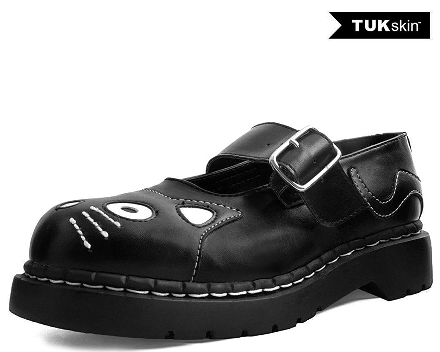 T.U.K...... Shoes T2260 Womens Vegan Mary Janes, Black TUKskin Kitty Mary Jane B076HXNHS1 US: Womens 8