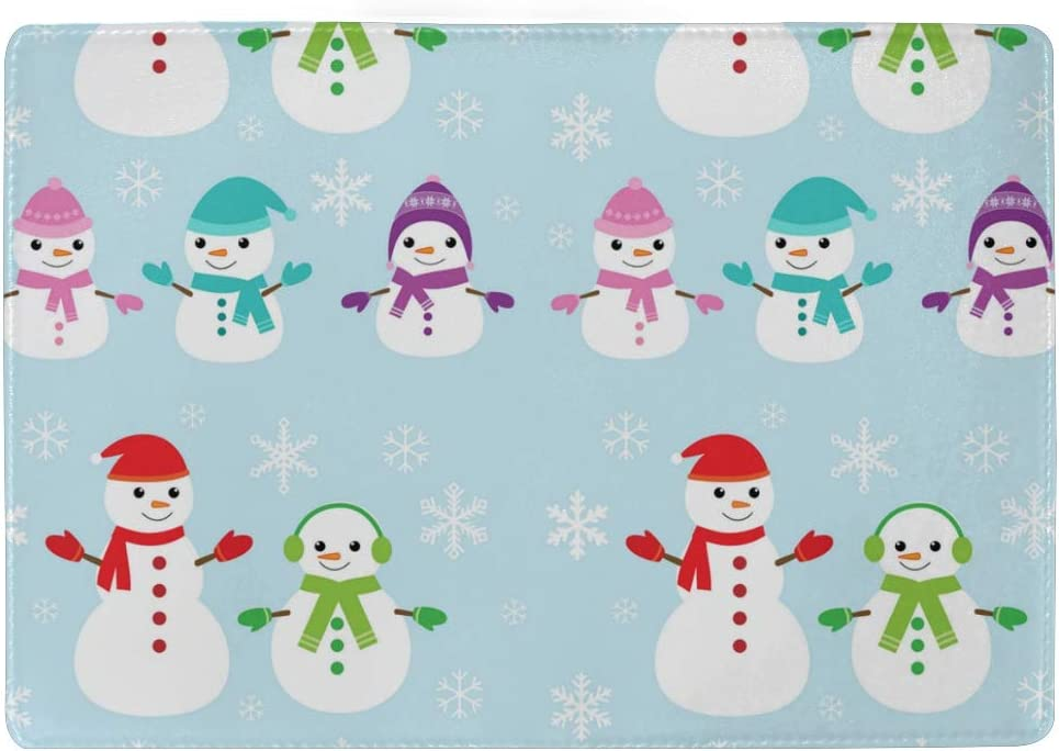Cute Dc Christmas Snowman Leather Passport Holder Cover Case Blocking Travel Wallet