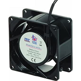 Pump House FM-A-8038-L - Motor de ventilador axial con minas (80 x 80 x 38 mm): Amazon.es: Industria, empresas y ciencia