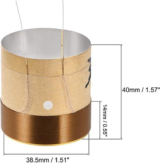 BQLZR Bobine de Fil de cuivre Rond /à Double Couche pour Haut-Parleur de Basses Diam/ètre 7,55 cm