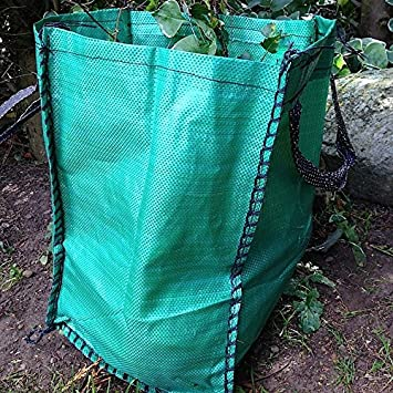 Yuzet 3x 120 Litre Garden Waste Bags Heavy Duty Large Refuse Sacks With Handles
