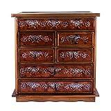 NOVICA Hand Painted Large Wood Jewelry Box, Brown, 'Loving Memories'