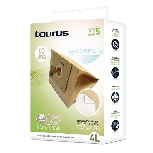 Taurus 999177000 Paquete de 5 bolsas de papel ECO para ...