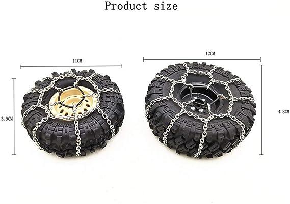 Cadena de nieve para neumáticos, 2 piezas de 4.13-4.33 ...