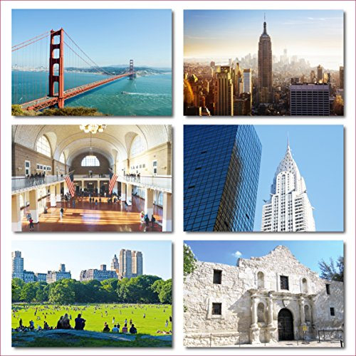 US National Monuments postcards pack - Set of 25 individual postcards featuring America's most famous national monuments and man made landmarks Photo #6