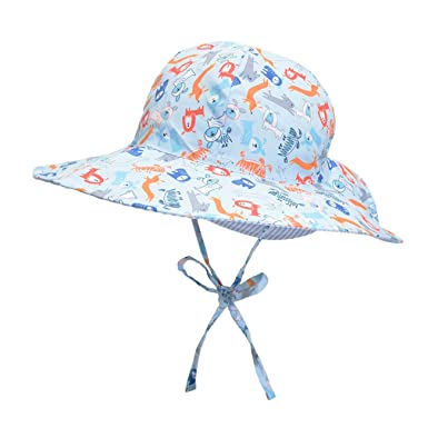 4c80864c Baby Sun Hat Reversible - Wide Brim Bucket Hat Breathable Quickly Dry Swim  Sunhat for Toddler