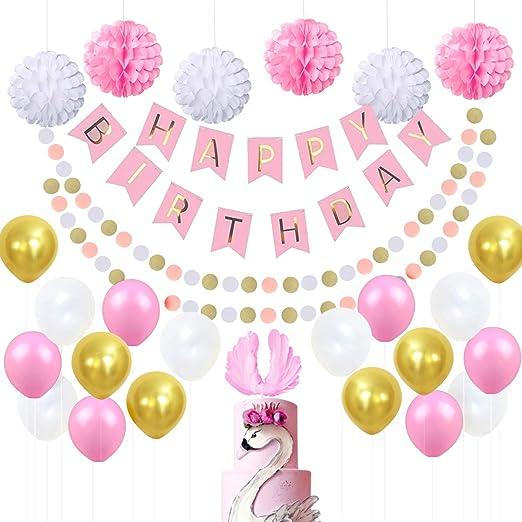Juego de decoración para cumpleaños para niña, decoración ...
