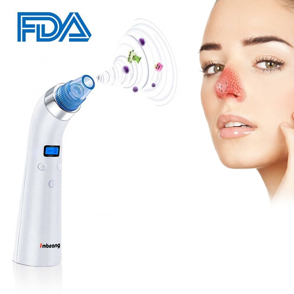 Blackhead Remover, Imbeang Comedo Suction USB Rechargeable Blackhead Removal Comedo Vacuum Suction Electric Facial Pore Cleanser Comedone Extractor Set (1)