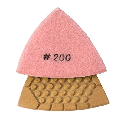 Specialty Diamond BRTTD200 Diamond Triangular Dry Pad, 200 Grit: Home Improvement