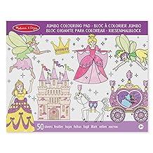 Melissa & Doug Jumbo 50-Page Kids' Coloring Pad Activity Book - Princess and Fairy