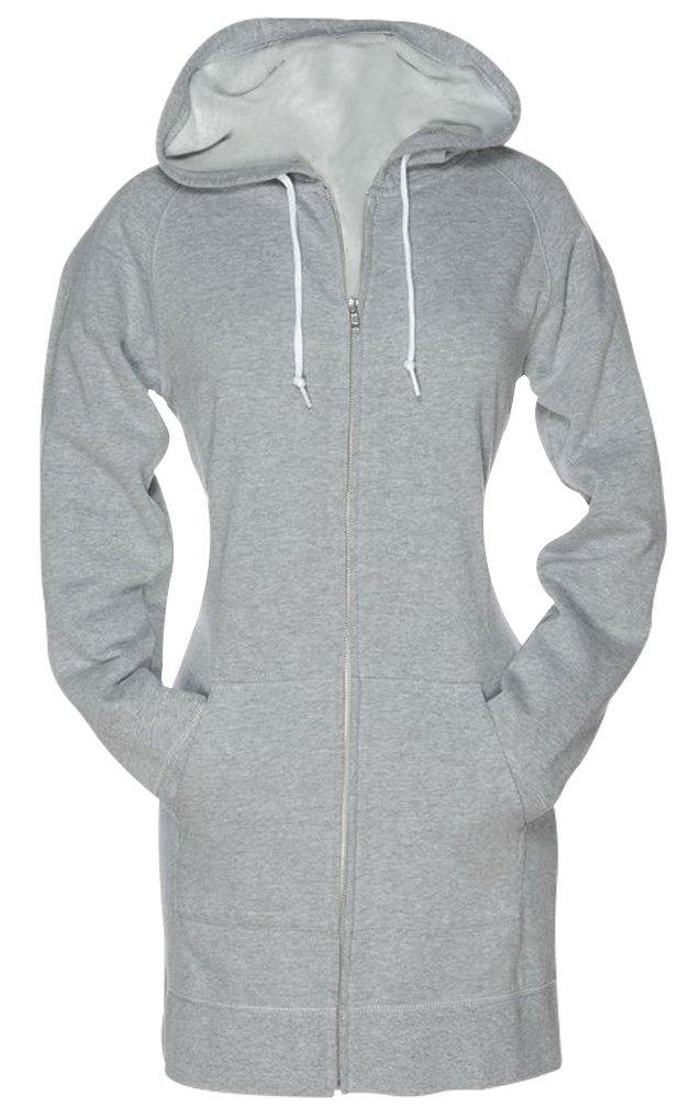 SKYLINEWEARS Women's Ladies Fashion Fleece Hoodies Sweatshirt Zip up Hoody Gray XL