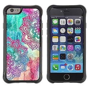 Suave TPU GEL Carcasa Funda Silicona Blando Estuche Caso de protección (para) Apple Iphone 6 PLUS 5.5 / CECELL Phone case / / Fractal Pen Art Colorful Teal Pink /