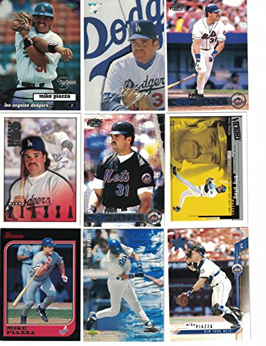 Mike Piazza / 25 Different Baseball Cards featuring Mike Piazza!! New Member of the Baseball Hall of Fame!
