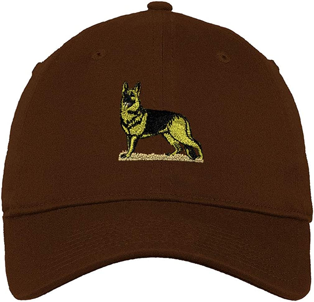 Custom Low/ Profile/ Soft Hat German Shepherd B Embroidery Dog Name Cotton Dad Hat
