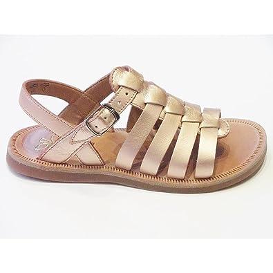 da328cb96d4a Pom D Api Plagette Strap Girls Metallic Copper Leather Sandal EU30 ...