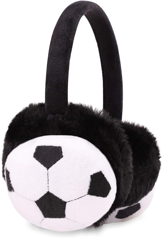 Flammi Kids Winter Earmuffs Soft Plush Faux Fur Ear Warmers Outdoor for Girls Boys Age 6-10 Years