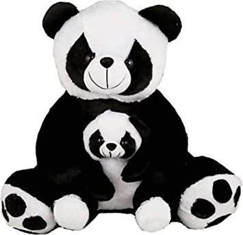 62a1e9557c87 Buy White & Black Mother & Baby Panda Online at Low Prices in India -  Amazon.in