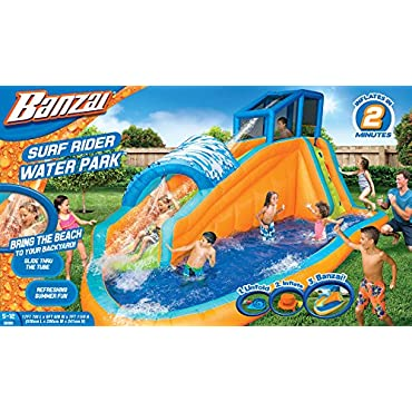 Banzai 13999 Inflatable Surf Rider Aqua Outdoor Water Park