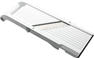 Benriner Mandoline Super Slicer, with 4 Japanese Stainless Steel Blades, BPA Free, 14.5 x 5.25-Inches, New Model