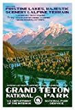 "Grand Teton National Park Poster - Original Artwork - 13"" x 19"" by Rob Decker - WPA Style"