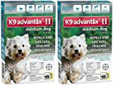 K9 ADVANTIX II Dog Flea & Tick 11-20 lbs Teal 12 Month