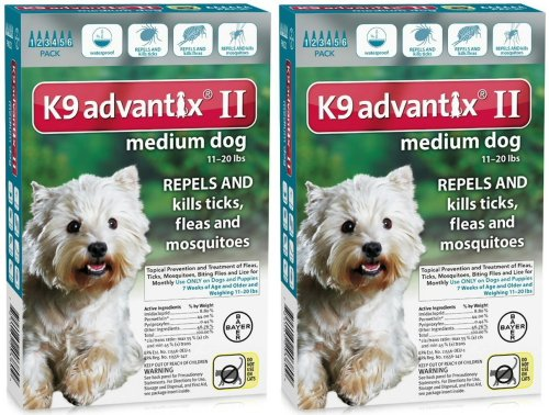 K9 ADVANTIX II Dog Flea & Tick 11-20 lbs Teal 12 Month by Bayer Animal Health