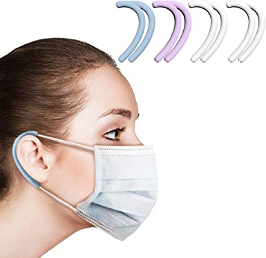 -Ear savers Silicone Masks Strap for Adults Makes masks more comfortable 8 Pcs