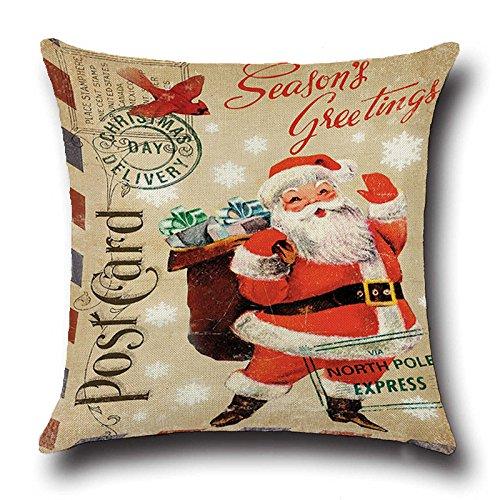 Amazon.com: Navidad Santa Claus decorativo almohada caso ...