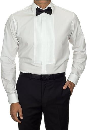 Van Heusen - Camisa con talle estándar y pechera de esmoquin para hombre: Amazon.es: Ropa y accesorios
