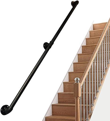 LTFS - Pasamanos para Escalera, Color Negro Mate: Amazon.es: Deportes y aire libre
