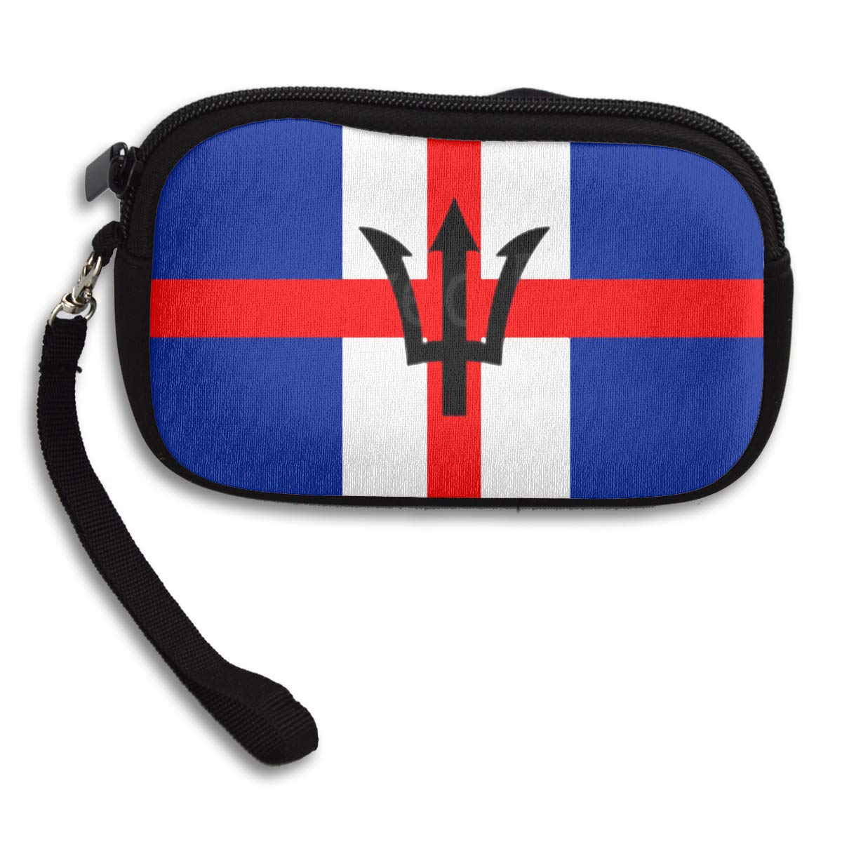 Mixed England And Barbados Flag Coin Purse Unique Change Purse,Make Up Bag,Cellphone Bag With Handle Purses For Women