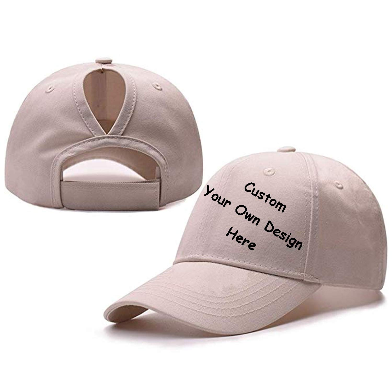 SW&IM Custom Mesh Trucker Hat Fashion High Ponytail Hat for