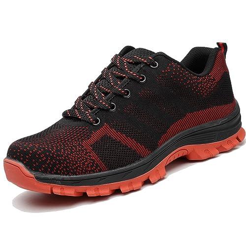 57940e63fd2 TeLe Xia Mens Safety Shoes Summer Fashion Breathable Steel Toe Work ...