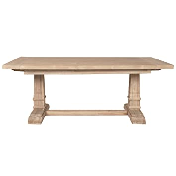 Amazon.com: Hudson Extension mesa de comedor, Stone Wash ...