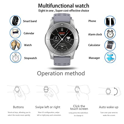 Amazon.com: No.1 GS8 Smartwatch Bluetooth 4.0 SIM Call Sport ...