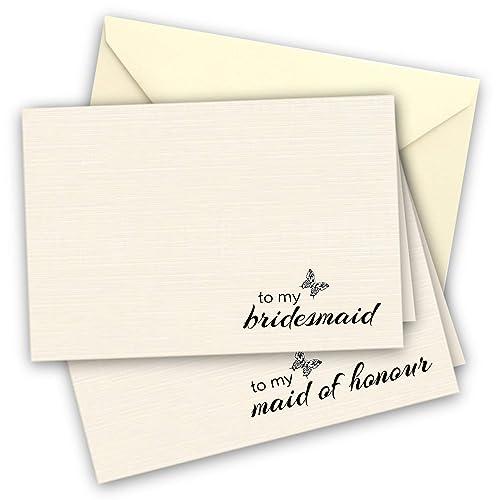 thank you bridesmaid cards amazon co uk