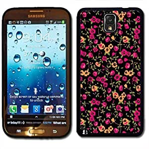 Pink Ladoo? Samsung Galaxy Note 3 Black Case - Floral Pattern Print Flowers Trendy style