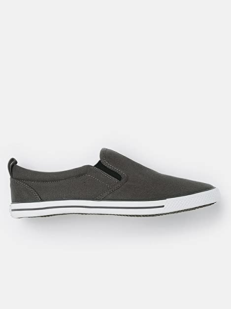 Buy Roadster Men Charcoal Grey Slip-On