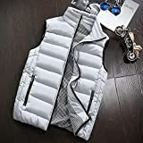 Allywit Men's S-5XL Packable Puffer Down Vest Button Down Jacket Coat Big and Tall