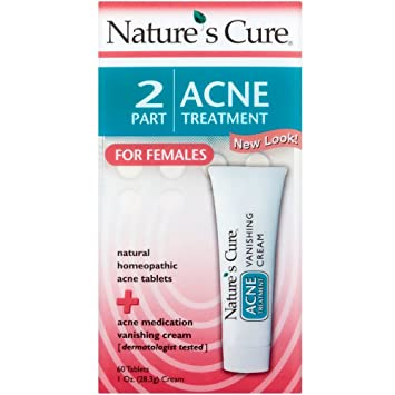 Natures Cure 2 Part Acne Treatment for Females 1 Each (Pack of 2) Freeze 24-7 Instant Targeted Wrinkle Treatment, 0.5 oz
