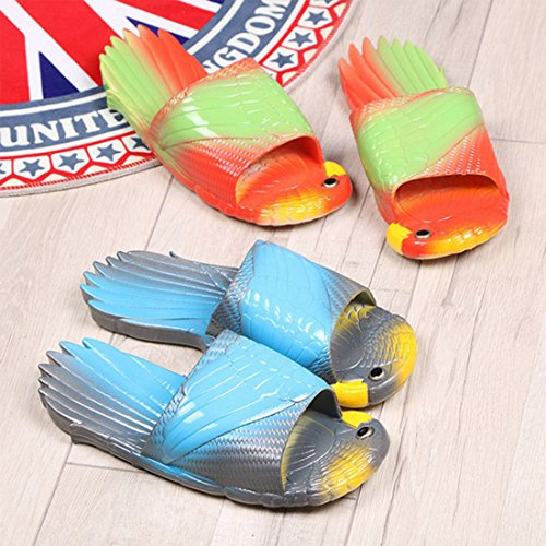 HUAIDE Beach Bathroom Gym Anti Slippers Shower gray Unisex Pool Slip Blue Sandals Household Couple C85CwaxYrq